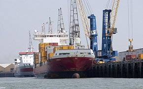 Boat at Sheerness Port.
