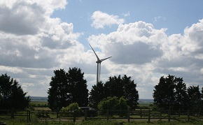 Wind turbines on the Isle of Sheppey, Kent.