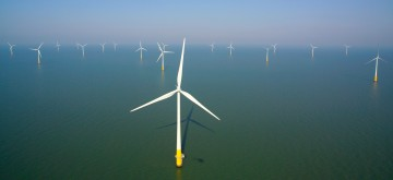 Image of the wind turbines at the Kentish Flats Extension.