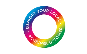 The logo of the Support Your Local campaign.