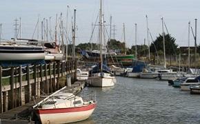 Boats at Faversham Creek.